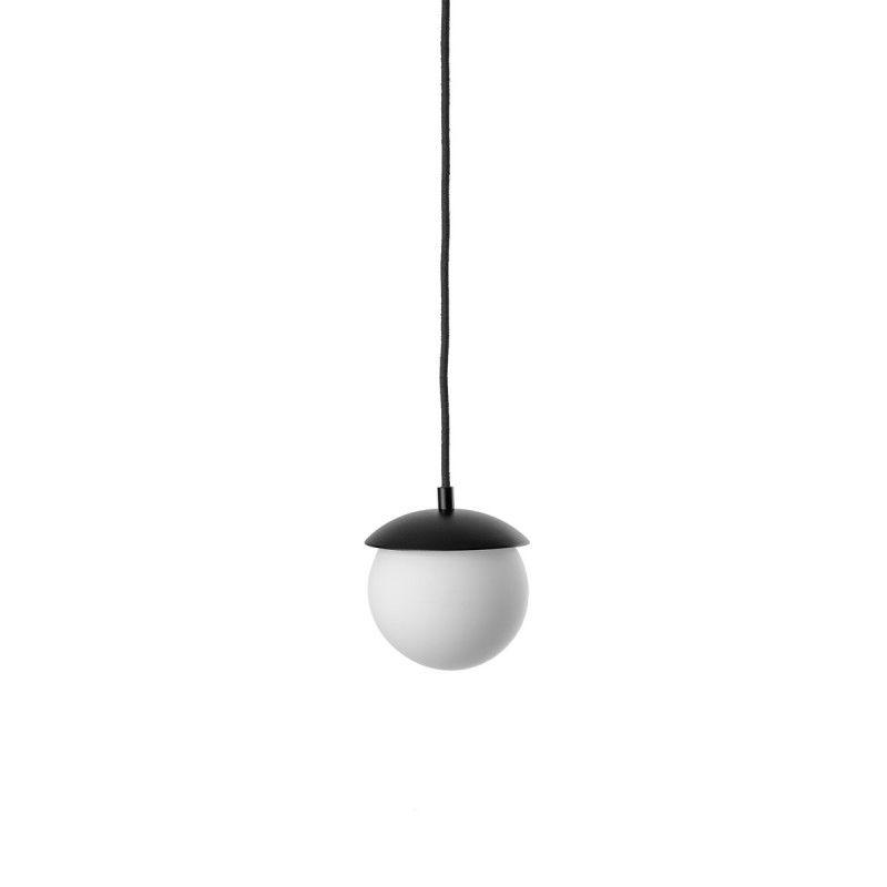 Szklana lampa wisząca Kuul F - czarna
