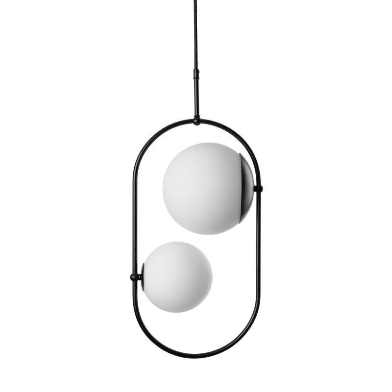 Lampa Koban C - Podwójna wisząca - szklane kule