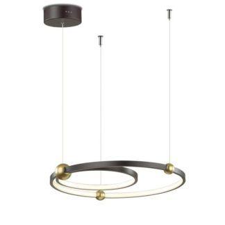 Oryginalna lampa wisząca Aurora - czarne okręgi LED