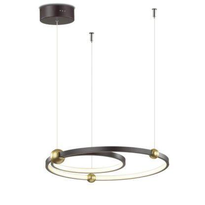 ledowa lampa do jadalni czerń i złoto
