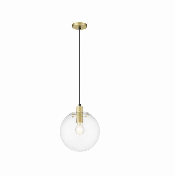 Elegancka lampa wisząca Pueto M - złote elementy