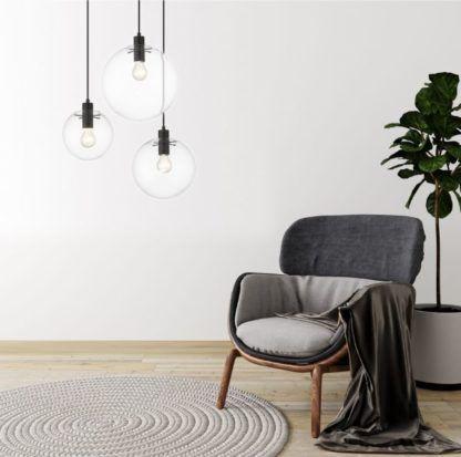 nowoczesne lampy wiszące do szarego salonu