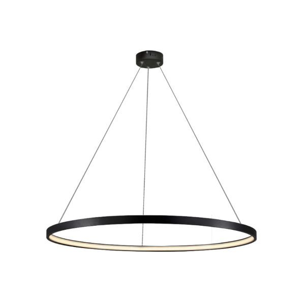 Czarna lampa wisząca Ring - 66cm, 3000K