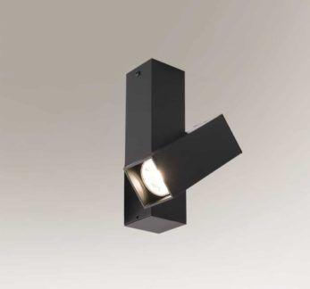Czarny reflektor sufitowy Mitsuma - regulowany