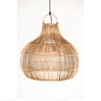 Lampa wisząca Bruno - rattan, styl boho