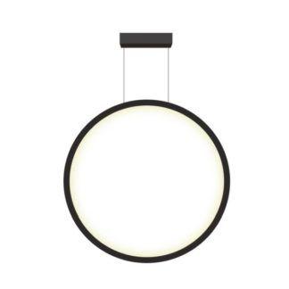 Czarna lampa wisząca Mirror - 60cm, LED, IP44