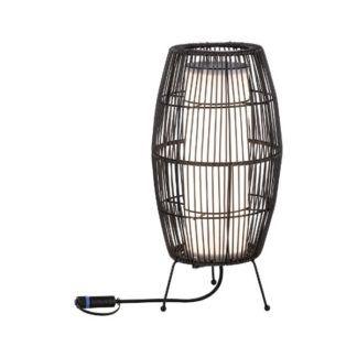 Lampa stojąca Kosz Plug&Shine S - lampion, rattan