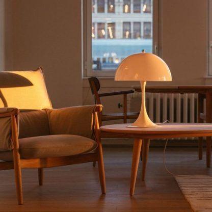 okrągła lampa stołowa salon nowoczesna