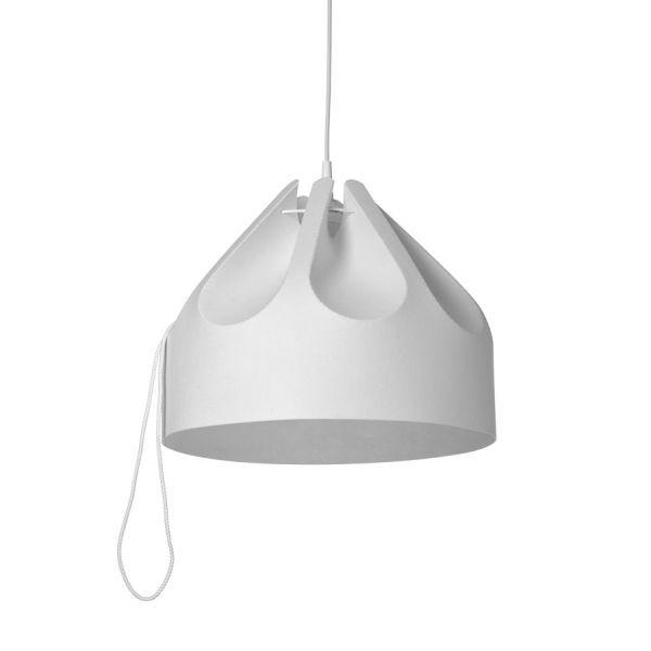 Lampa wisząca Beza 1  - biały klosz z tworzywa