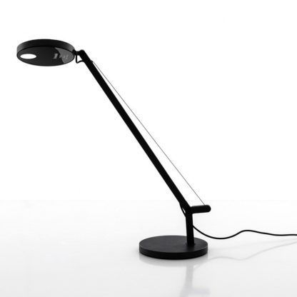 Czarna lampa biurkowa Demetra Micro Tavolo - LED, ze ściemnianiem