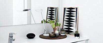 Stylowa lampa biurkowa Demetra Micro Tavolo - biała, LED, ściemniacz