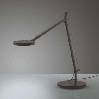 Ledowa lampa biurkowa Demetra Tavolo - szara, ze ściemniaczem