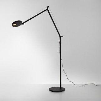 Czarna lampa podłogowa Demetra - LED, regulowana