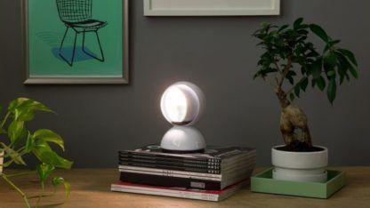 Designerska lampa stołowa Eclisse Tavolo - biała