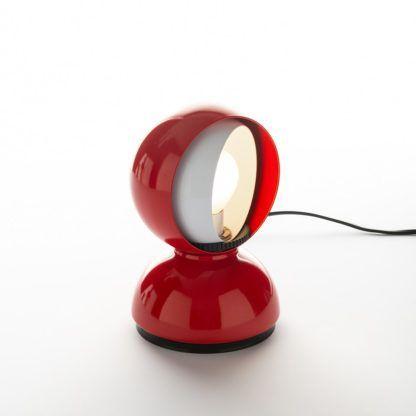 Nowoczesna lampa stołowa Eclisse Tavolo - czerwona, wymienna żarówka