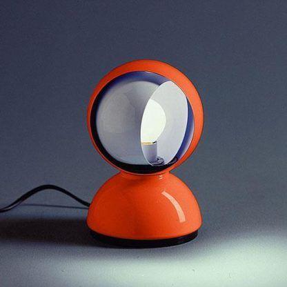 Pomarańczowa lampa stołowa Eclisse Tavolo - nowoczesna