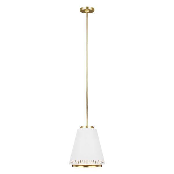 lampa wisząca z matowym białym kloszem