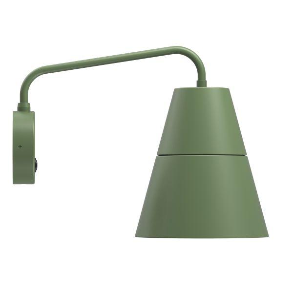 Zielony kinkiet Ily Ily - stożkowy klosz