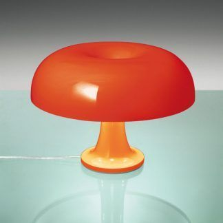 Pomarańczowa lampa stołowa Nessino Tavolo - szeroki klosz, LED
