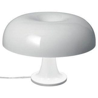 Biała lampa stołowa Nessino Tavolo - nowoczesna, LED