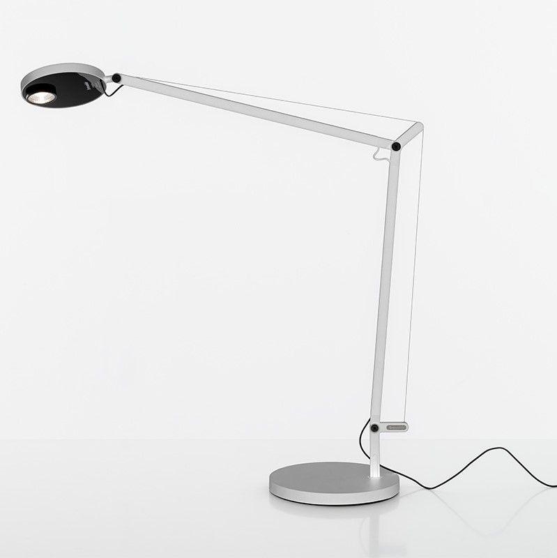 Biała lampa stołowa Demetra Professional Tavolo - LED, ściemniacz