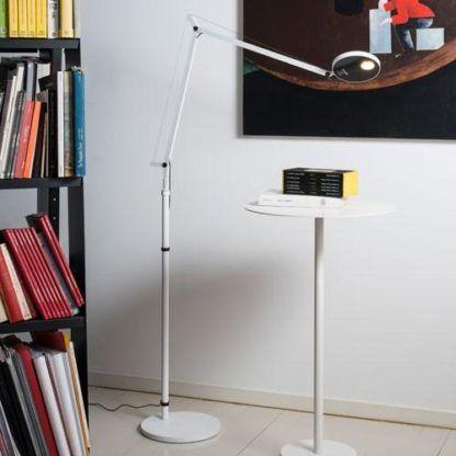 Nowoczesna lampa podłogowa Demetra - LED, biała