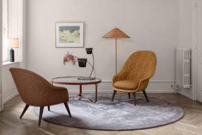 wiklinowa lampa podłogowa do salonu