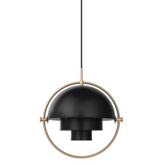 Elegancka lampa wisząca Multi-Lite S - czerń i mosiądz