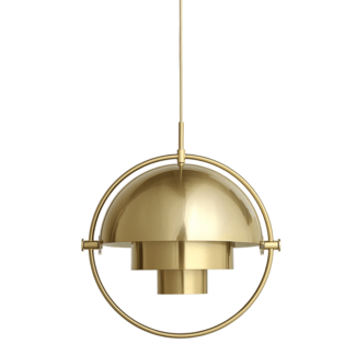Lampa wisząca Multi-Lite S - geometryczny klosz, mosiądz