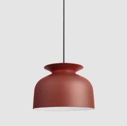 Lampa wisząca Ronde 40 - czerwony klosz