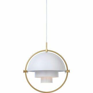 Lampa wisząca Multi-Lite S - biel i mosiądz
