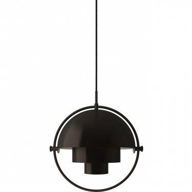 Elegancka lampa wisząca Multi-Lite S - czarny mosiądz