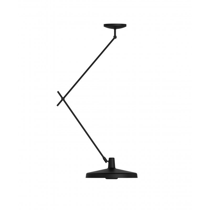 Lampa sufitowa Arigato 45 - czarna, regulowana