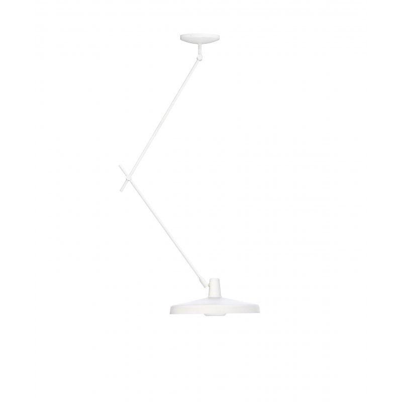 Lampa sufitowa Arigato 45, regulowane ramię, biała