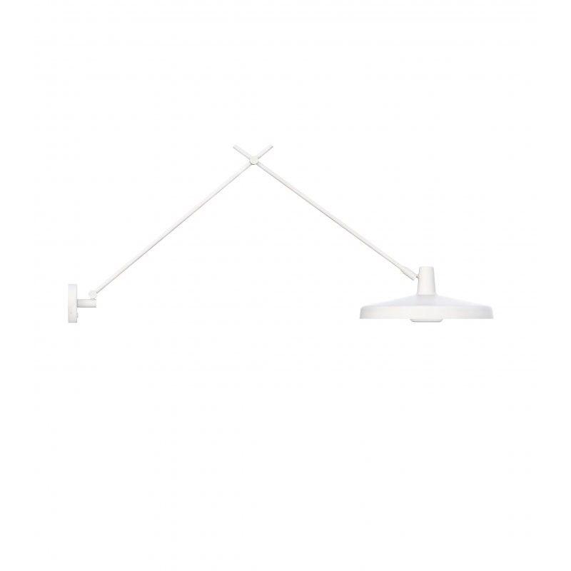 Biały kinkiet Arigato 45 - odłączany przewód