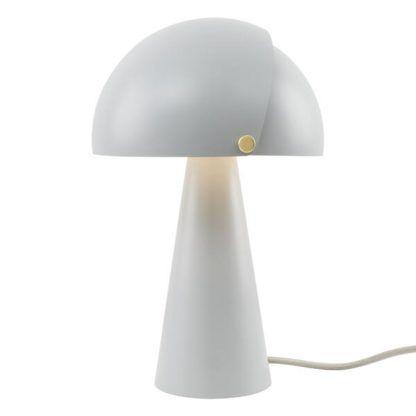 szara lampa stołowa grzybek