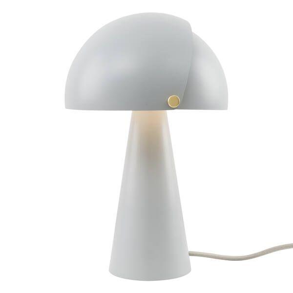 regulowana szara lampa stołowa