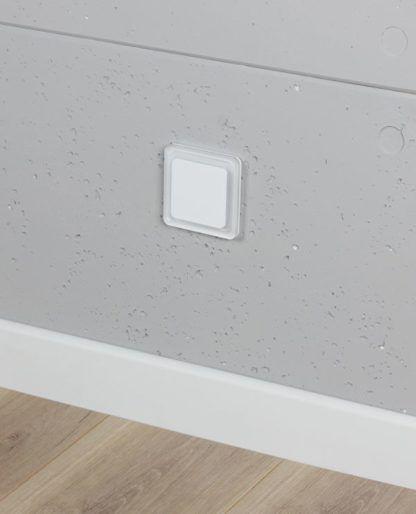 Biała oprawa schodowa Bojo LED - neutralne światło
