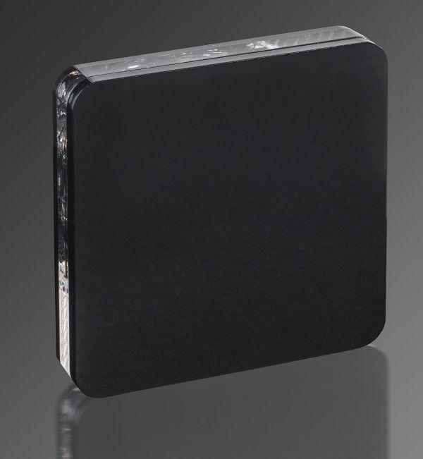 Czarna oprawa schodowa Cosmo LED - neutralne światło