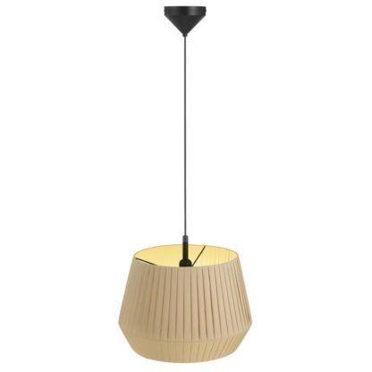 nastrojowa lampa wisząca z abażurem