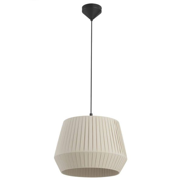 Beżowa lampa wisząca Dicte 40 - bawełniany abażur