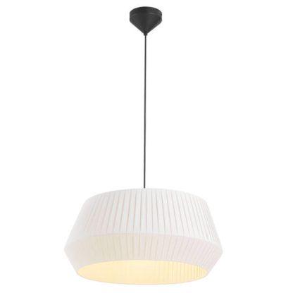 lampa wisząca biały abażur plisowany