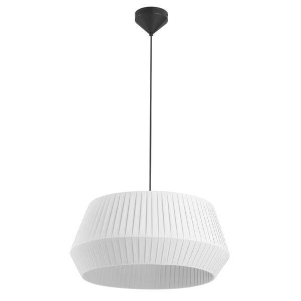 Biała lampa wisząca Dicte 53 - Nordlux, bawełniany abażur