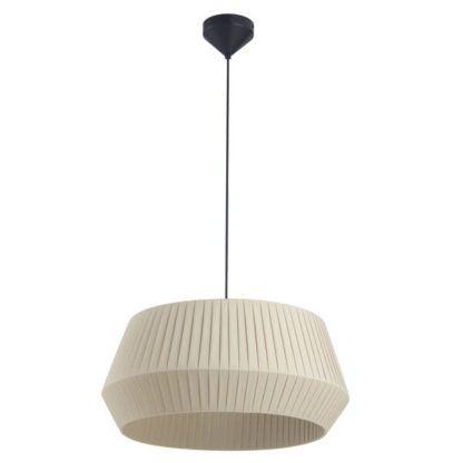 lampa wisząca beżowy abażur
