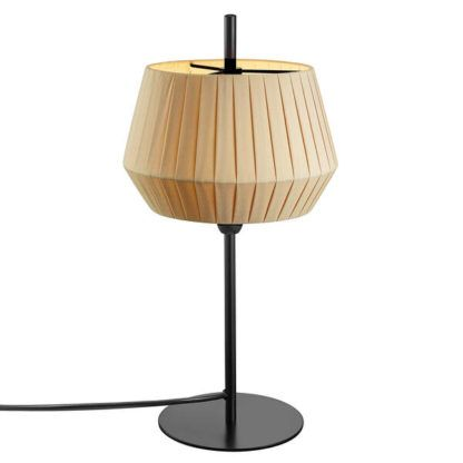 lampa stołowa z beżowym abażurem