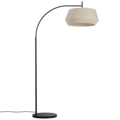 lampa podłogowa łuk beżowy abażur