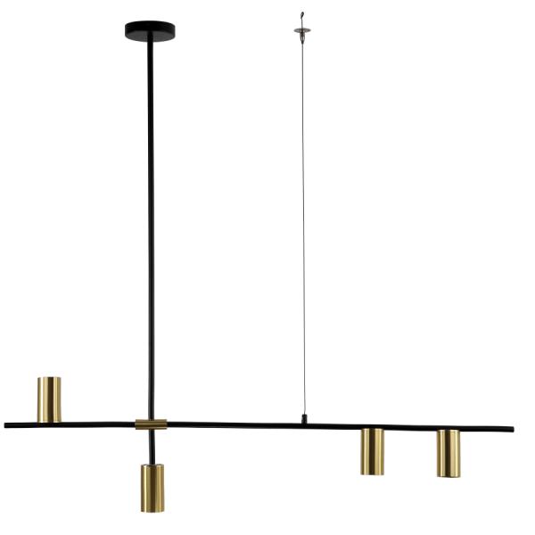 Nowoczesna lampa wisząca Arizona 4 - złote tuby