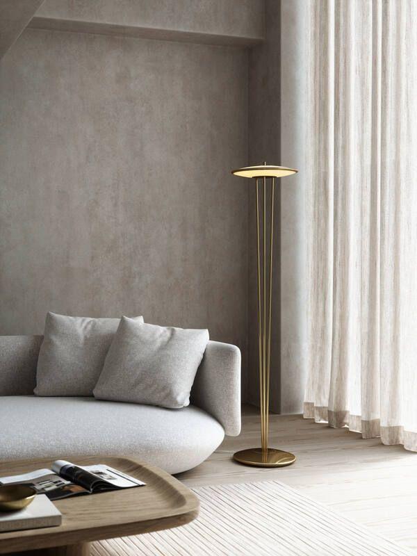 Elegancka lampa podłogowa Blanche - DFTP, ściemniacz