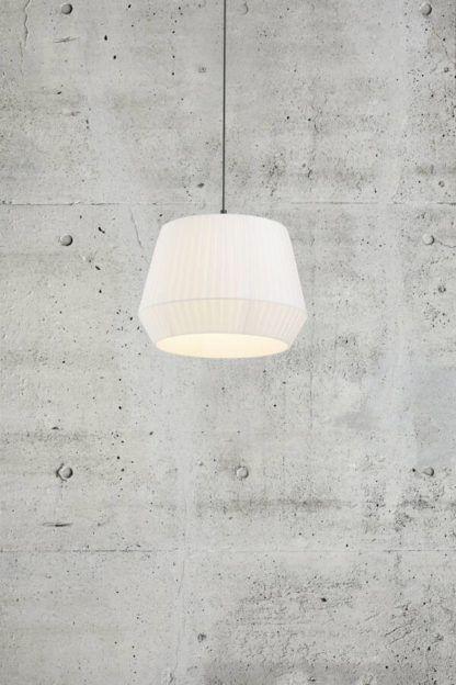 Lampa wisząca Dicte 40 - Nordlux, bawełniany, biały abażur