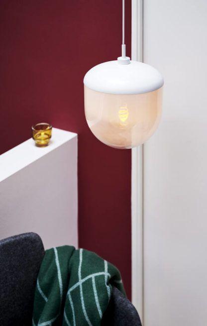 Lampa wisząca Magia 26 - Nordlux, szklany klosz, biała